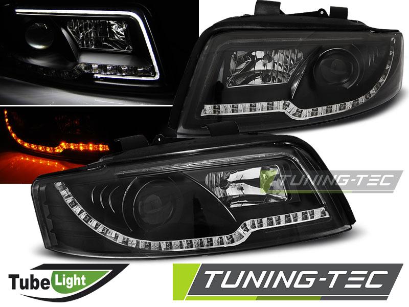 Lexus F Sport >> OSVĚTLENÍ | AUDI A4 8E - Přední světla TUBE LIGHT - Černá ...