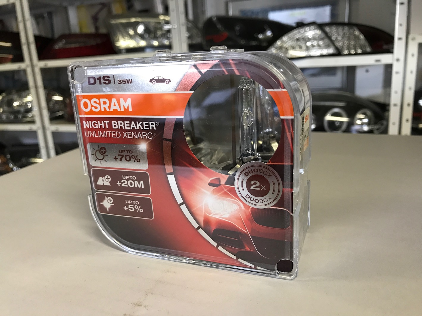 OSRAM XENON D1S 35W NIGHT BREAKER UNLIMITED XENARC DUO BOX