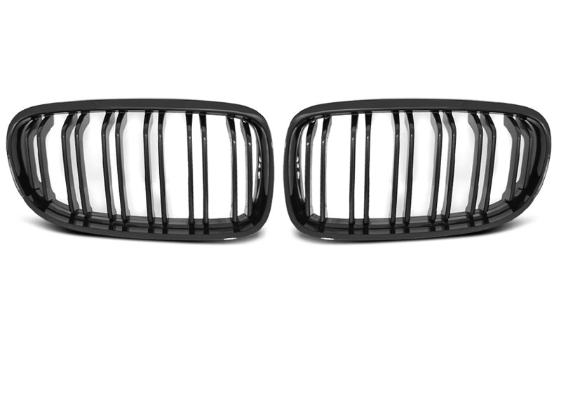 BMW E90 / E91 LCI 09 - Grill ABS DOUBLE BAR M-LOOK černé LESK