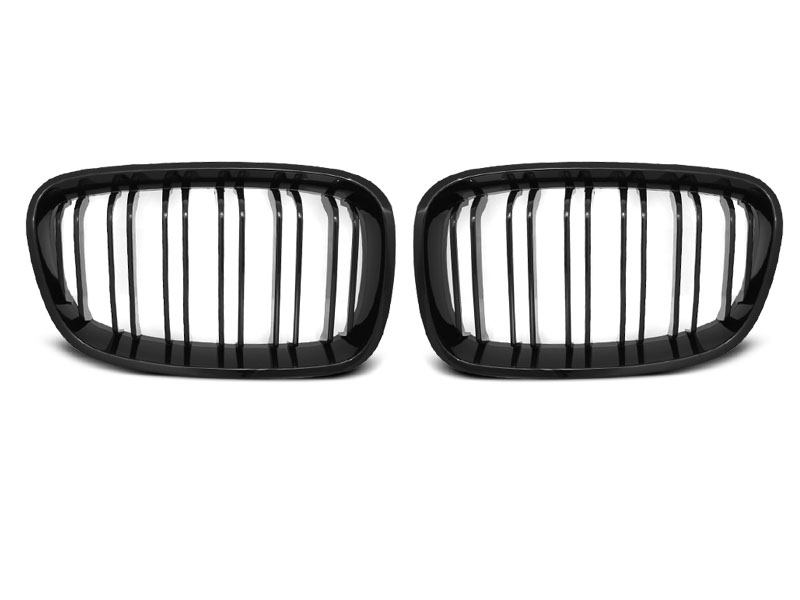 BMW F20 / F21 11-14 - Grill ABS DOUBLE BAR M-LOOK černé LESK