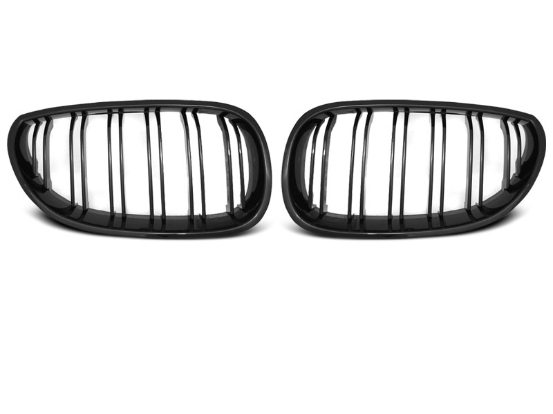 BMW E60 / E61 03-10 - Grill ABS DOUBLE BAR M-LOOK černé LESK