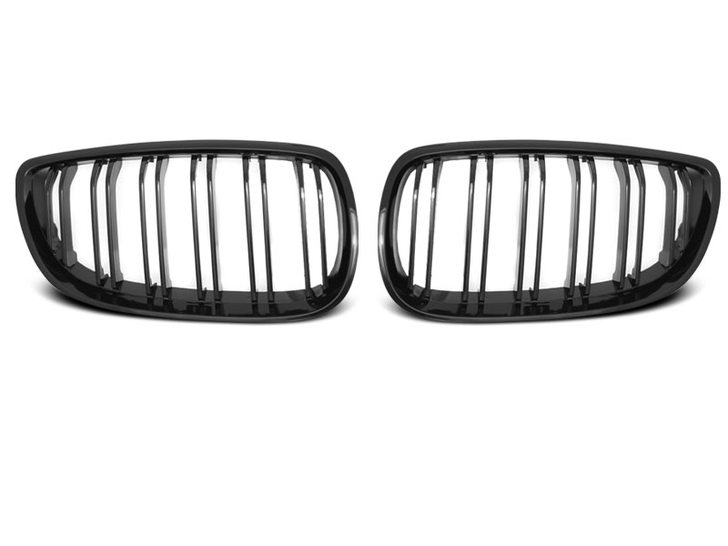 BMW E92 / E93 07-10 - Grill ABS DOUBLE BAR M-LOOK černé LESK